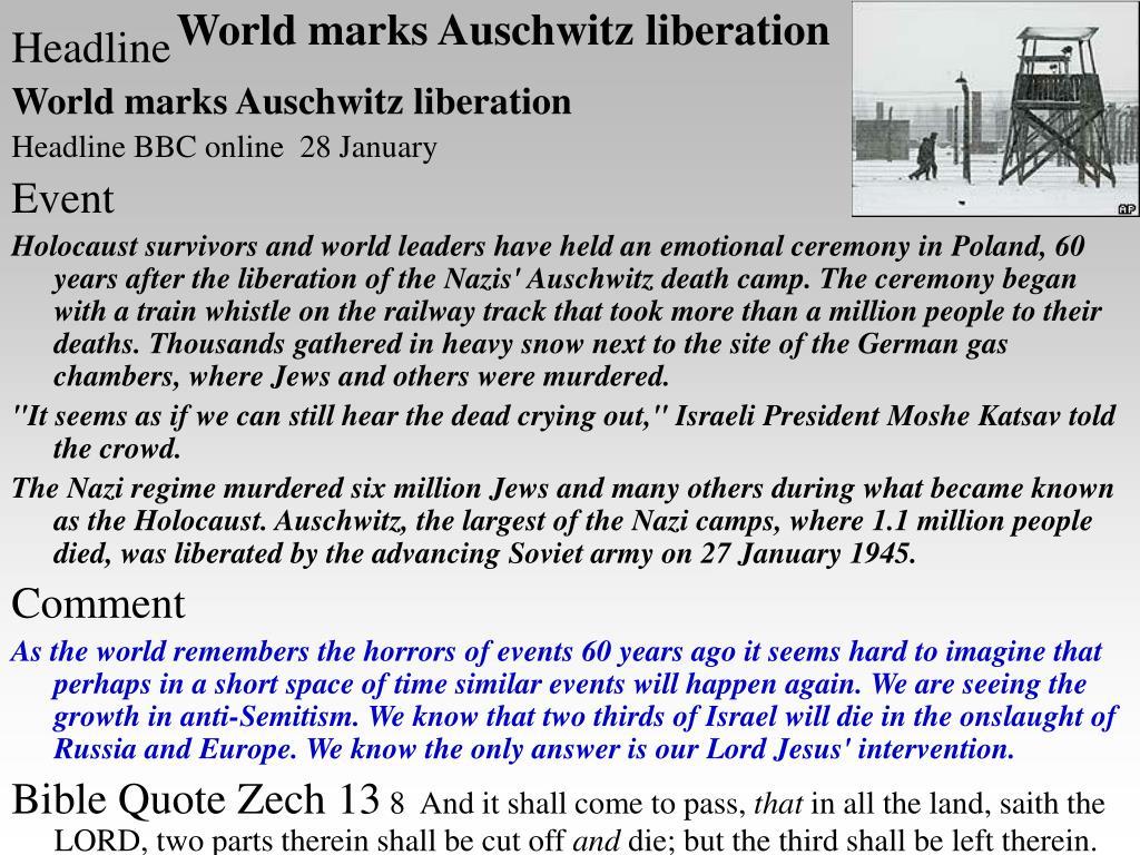 World marks Auschwitz liberation