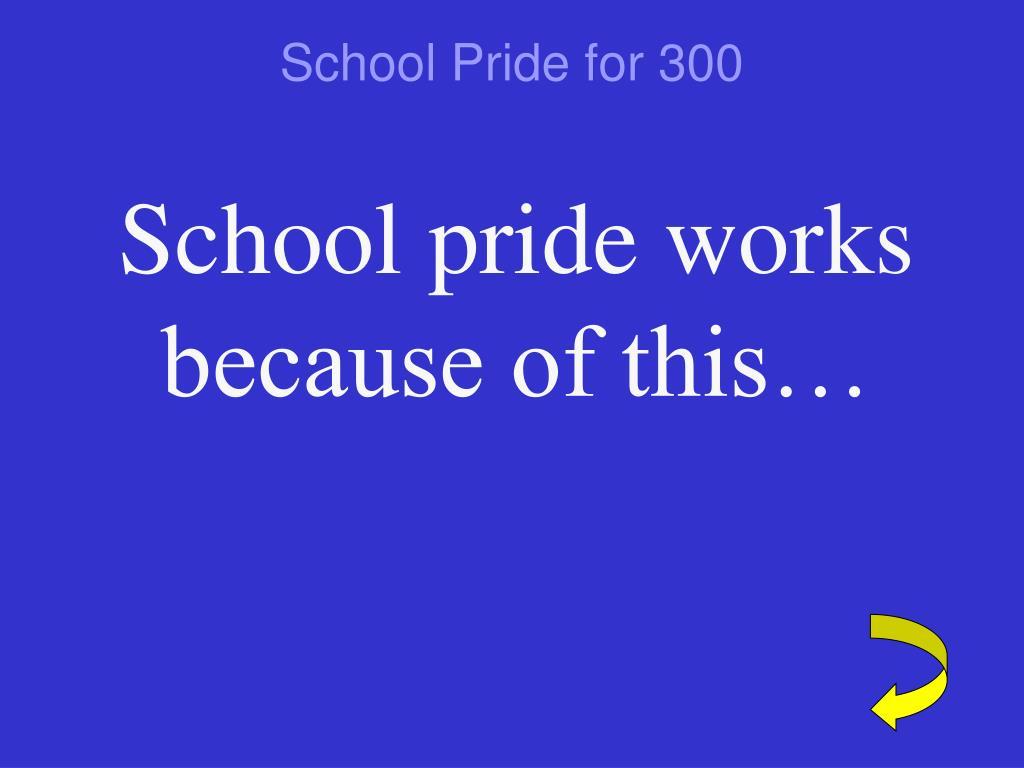 School Pride for 300