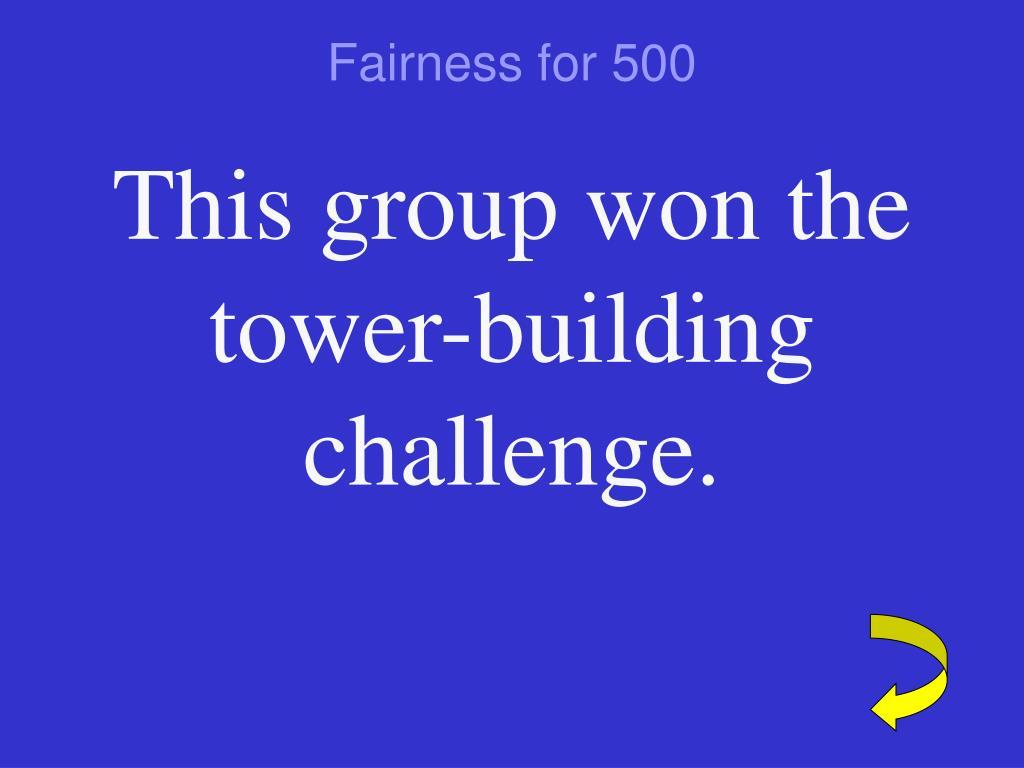 Fairness for 500