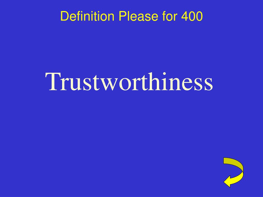 Definition Please for 400