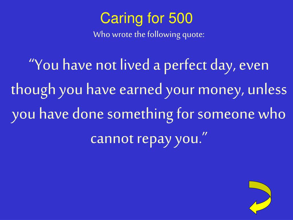 Caring for 500