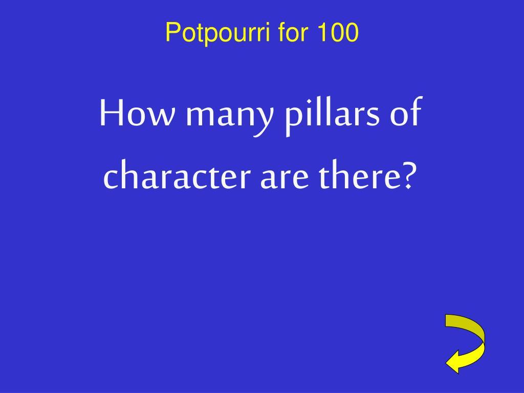 Potpourri for 100