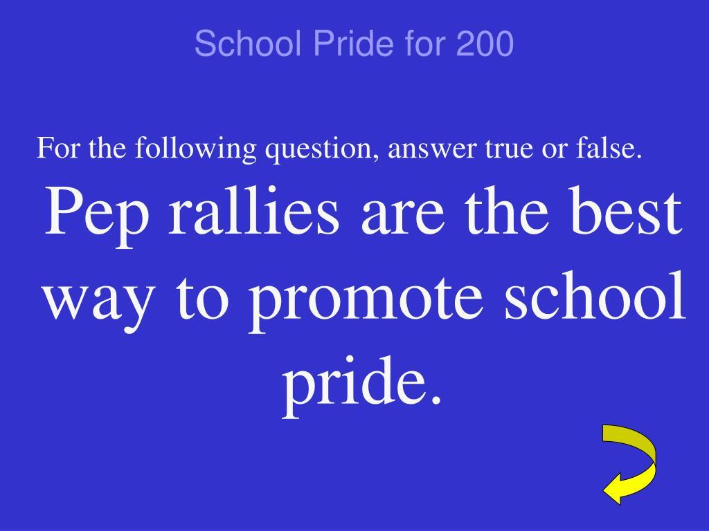 School Pride for 200