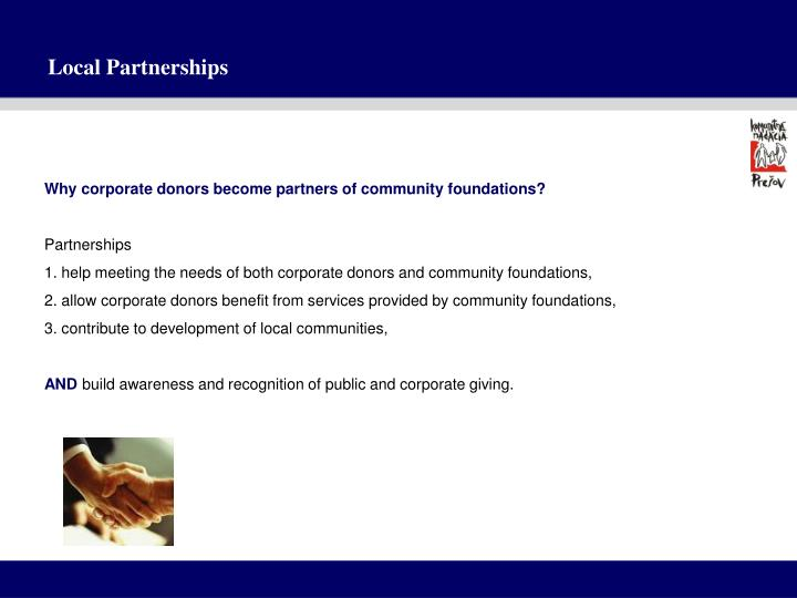 Local partnerships