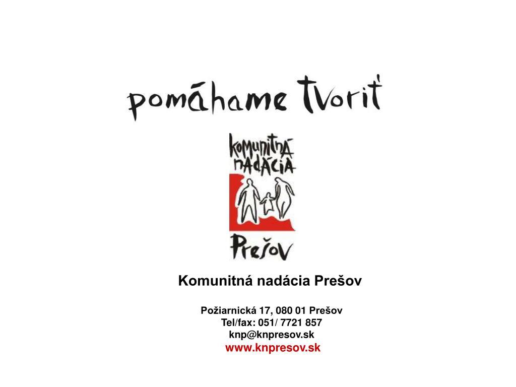 Komunitná nadácia Prešov