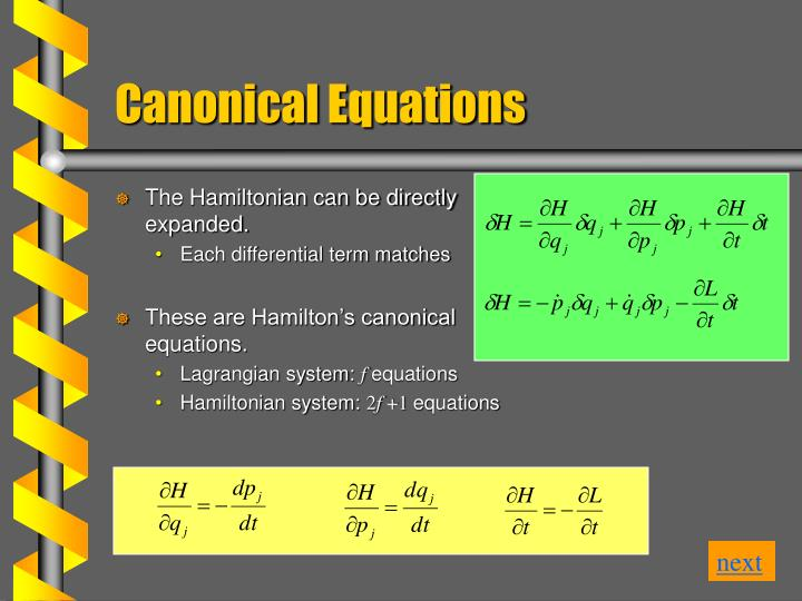 The Hamiltonian can be directly expanded.