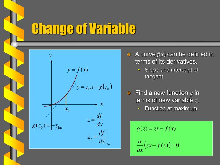 Change of Variable