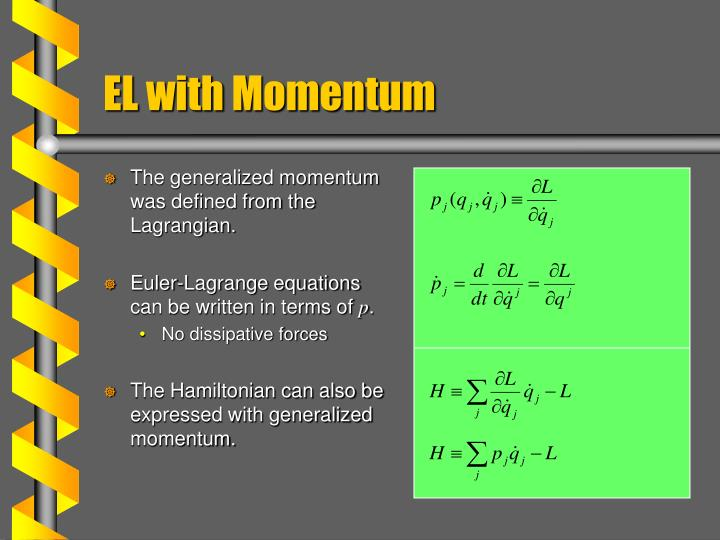 El with momentum