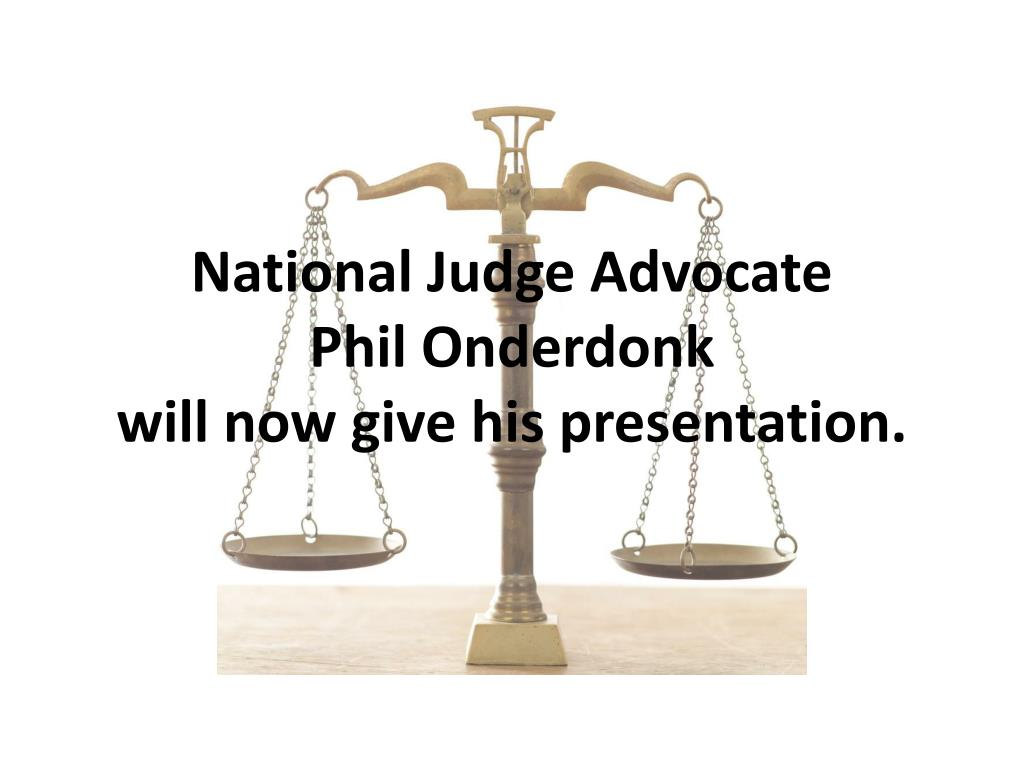National Judge Advocate