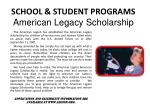 school student programs american legacy scholarship