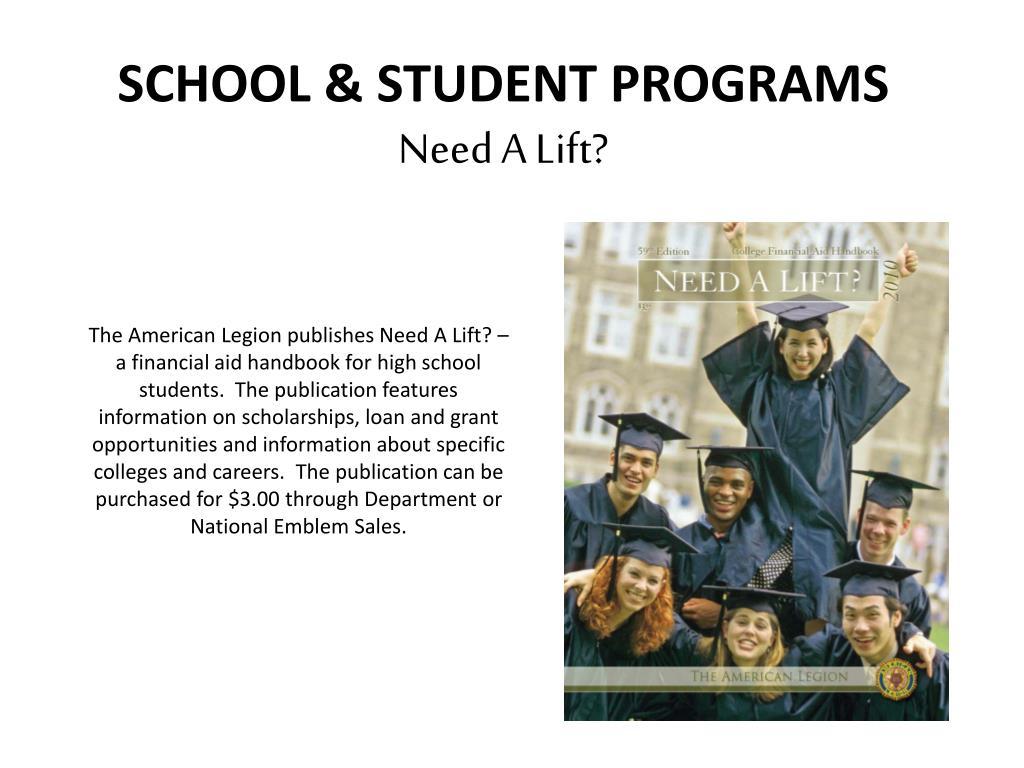 SCHOOL & STUDENT PROGRAMS