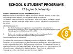 school student programs pa legion scholarships