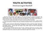 youth activities american legion baseball