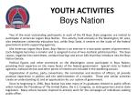 youth activities boys nation