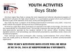 youth activities boys state