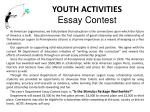 youth activities essay contest