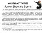 youth activities junior shooting sports