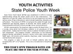 youth activities state police youth week