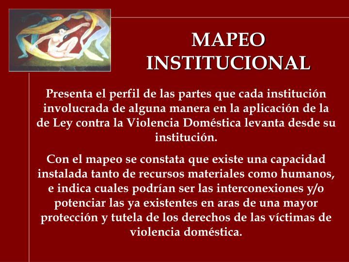 MAPEO INSTITUCIONAL