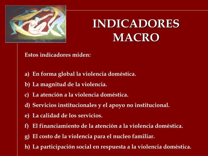 INDICADORES MACRO