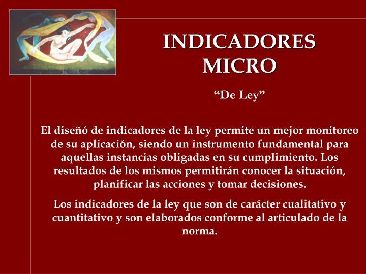 INDICADORES MICRO