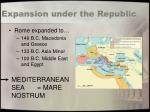 expansion under the republic71