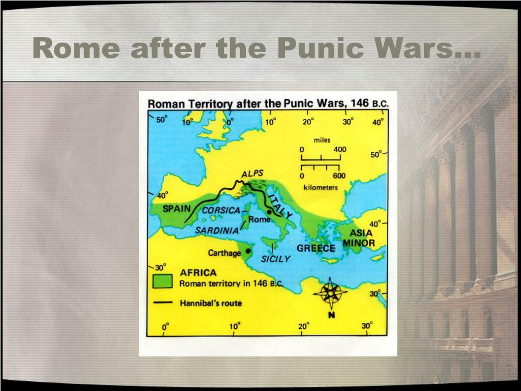 Rome after the Punic Wars…
