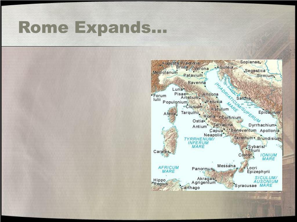 Rome Expands…