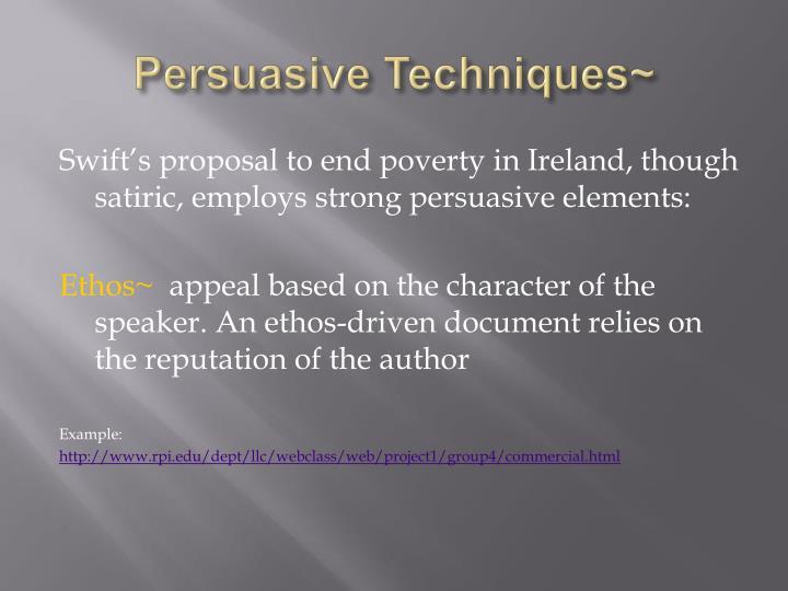 Persuasive Techniques~