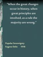 popular sovereignty eugene debs 1918