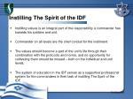 instilling the spirit of the idf