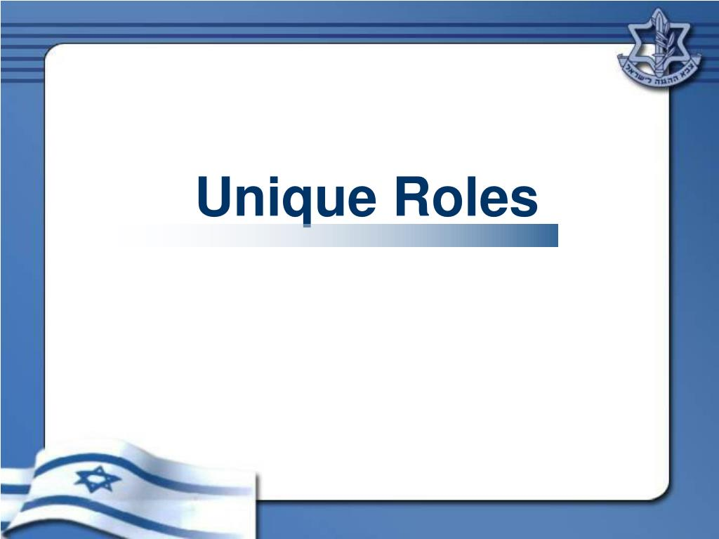 Unique Roles