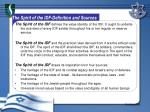 the spirit of the idf definition and sources
