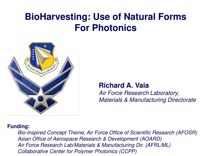 BioHarvesting: Use of Natural Forms