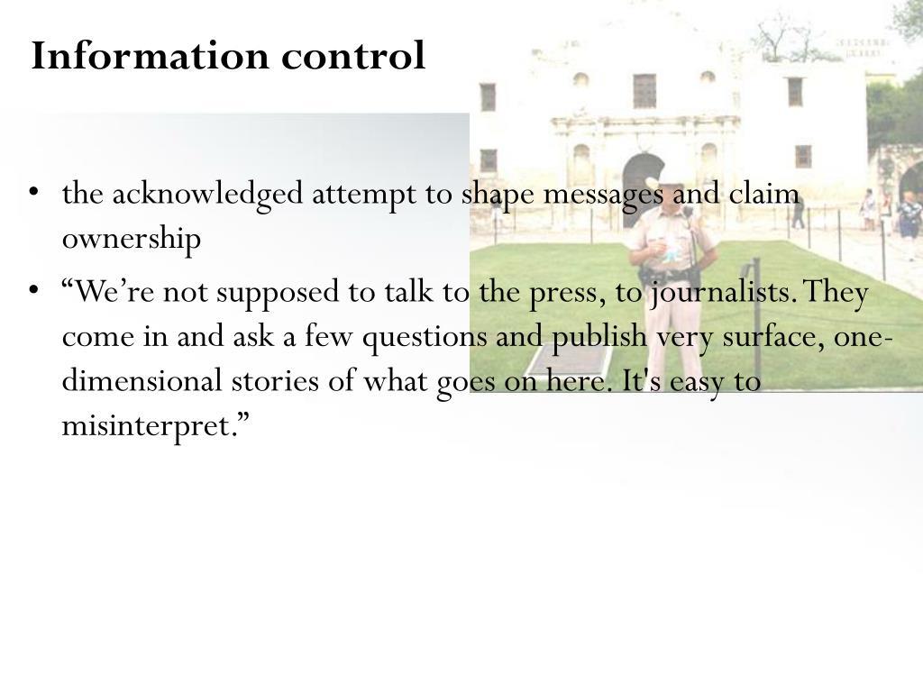 Information control