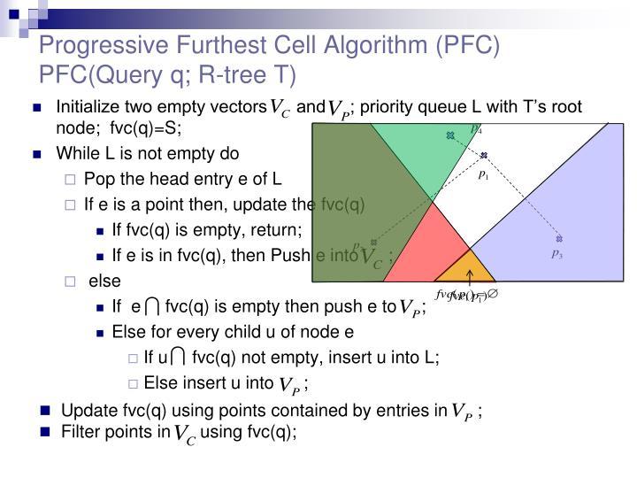 Progressive Furthest Cell Algorithm (PFC)
