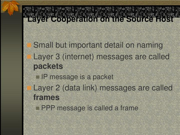 Layer Cooperation on the Source Host