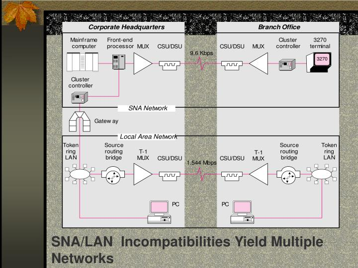 SNA/LAN  Incompatibilities Yield Multiple Networks