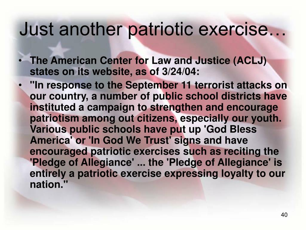 Just another patriotic exercise…