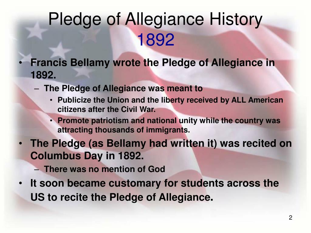 Pledge of Allegiance History
