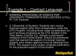 example 1 contract language