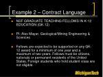 example 2 contract language