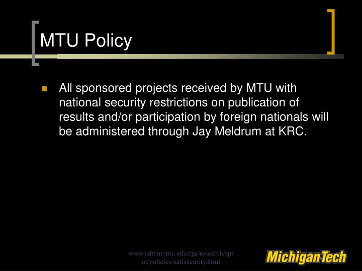 MTU Policy