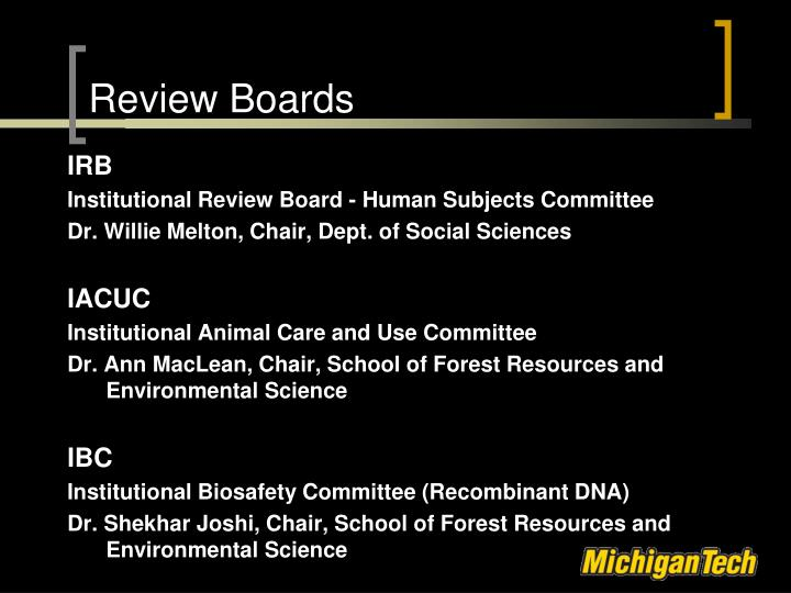 Review Boards