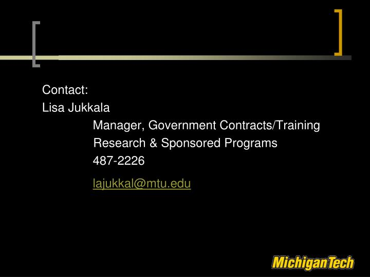 Contact: