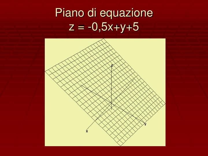Piano di equazione