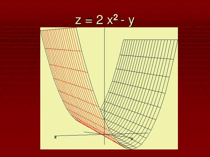 z = 2 x