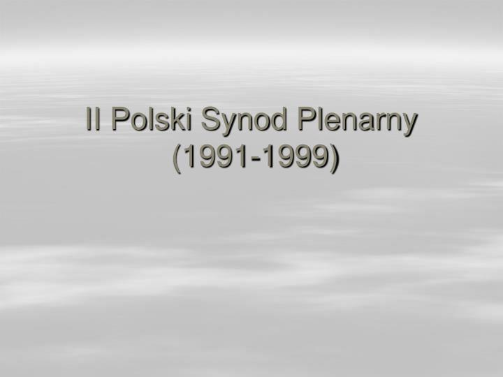 II Polski Synod Plenarny