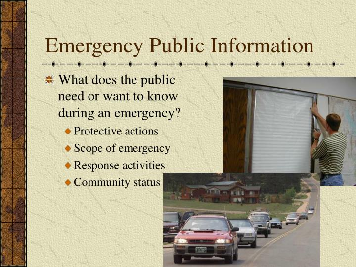 Emergency Public Information