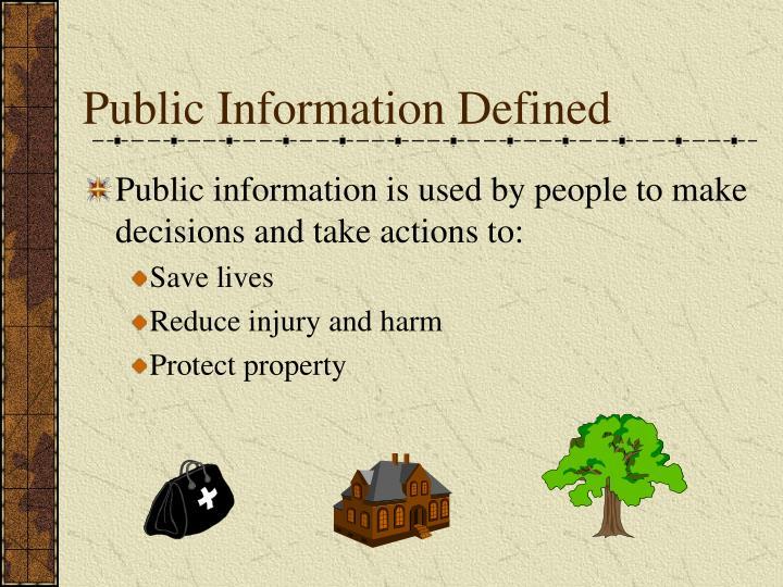 Public Information Defined